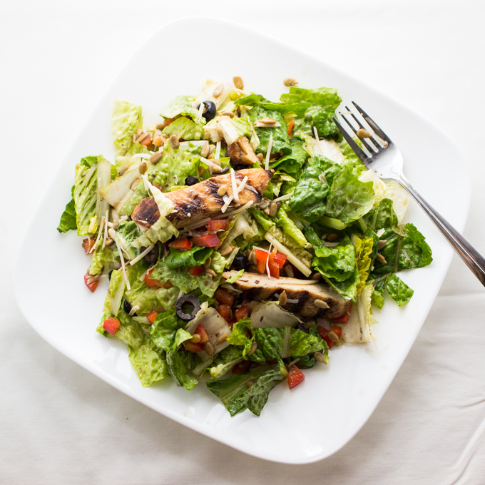 The salad that you can eat every single day: crunchy basil romaine salad