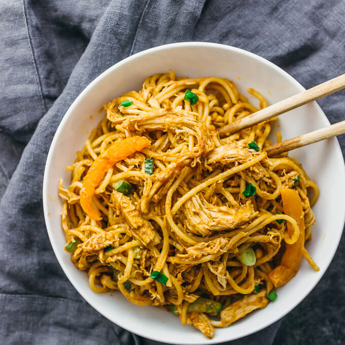 Asian noodle recipe with peanut butter