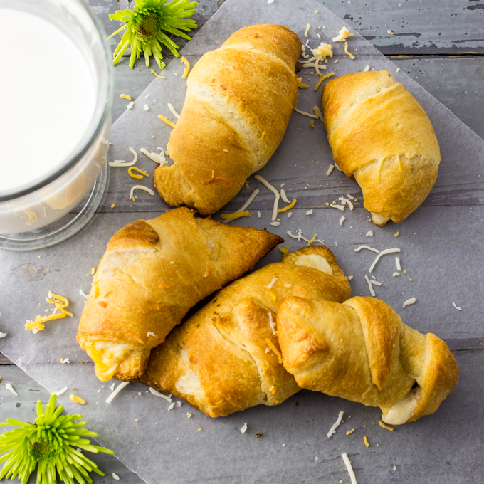 Jalapeno, garlic, and cheese stuffed crescent rolls
