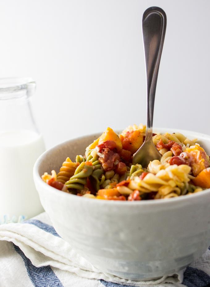 Habanero sweet potato pasta