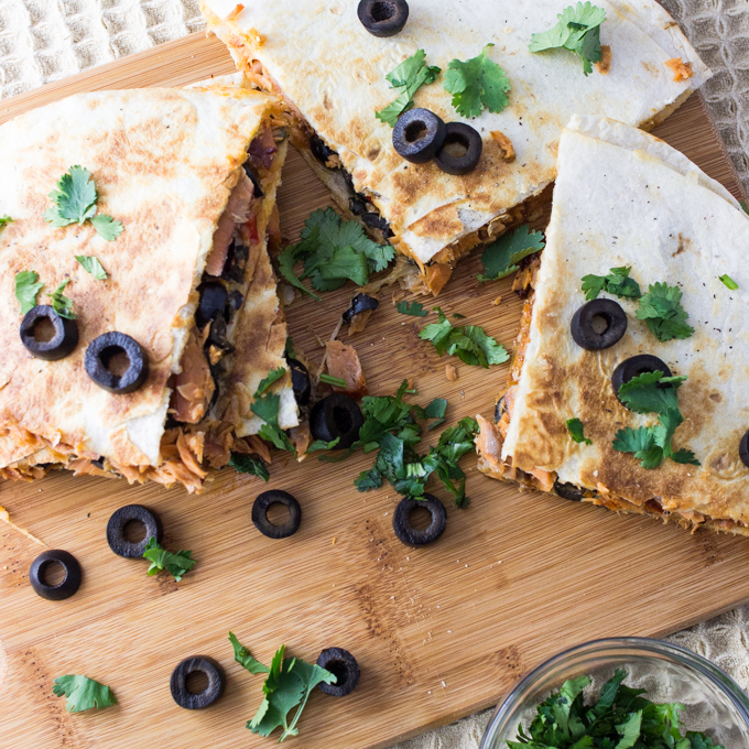 Spicy Smoked Salmon Quesadilla - Savory Tooth