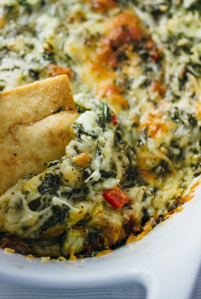 Chunky jalapeno artichoke and spinach dip