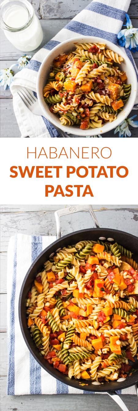 Habanero sweet potato pasta recipe | easy pasta dinner recipe | spicy pasta | vegetarian | vegan | lunch
