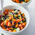 Easy spicy sweet black bean salad