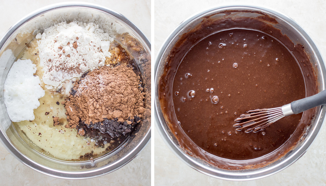 Mixing cake batter