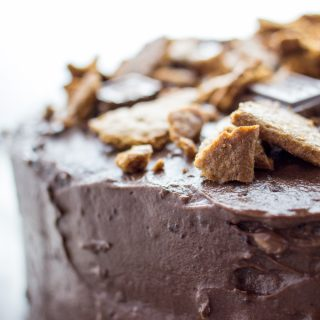 Milk chocolate frosted graham cracker cake