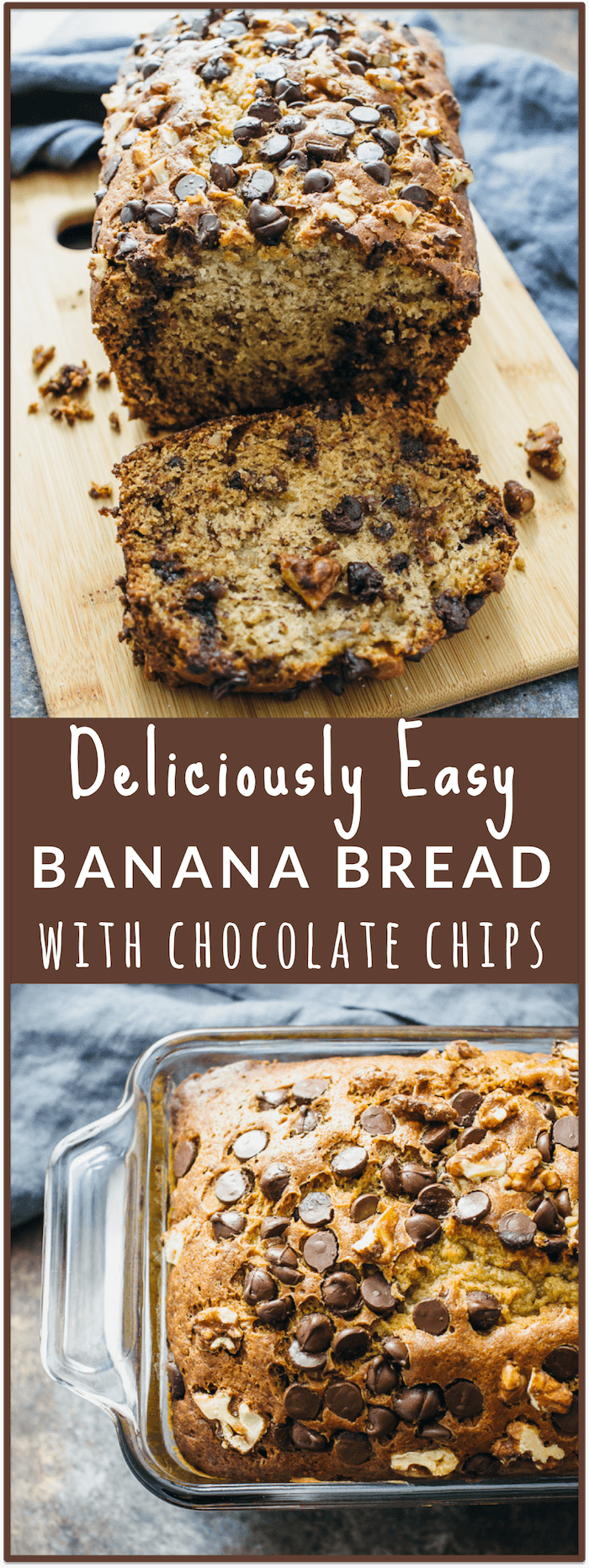 for banana bread with chocolate chips and walnuts! This banana bread ...