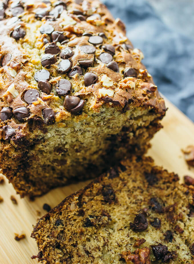 Chocolate Bread Pudding With Walnuts And Chocolate Chips ...