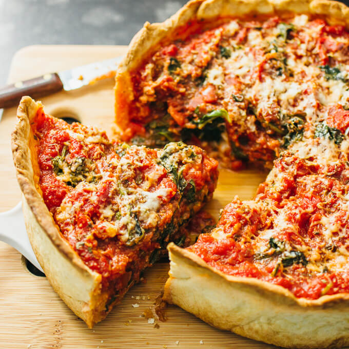 Image result for Chicago deep-dish pizza