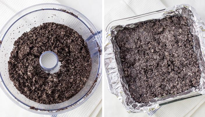 Making the Oreo crust