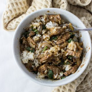 Taiwanese sa cha beef over rice