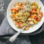 No-boil pasta casserole with chicken