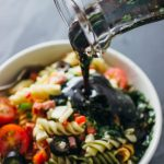 This is a ridiculously good hearty pasta salad that anyone can make. It's simple and easy with only 3 steps and it's a one-pot type of recipe!