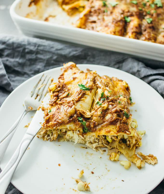 Chicken Enchiladas With Easy Mole Sauce Savory Tooth