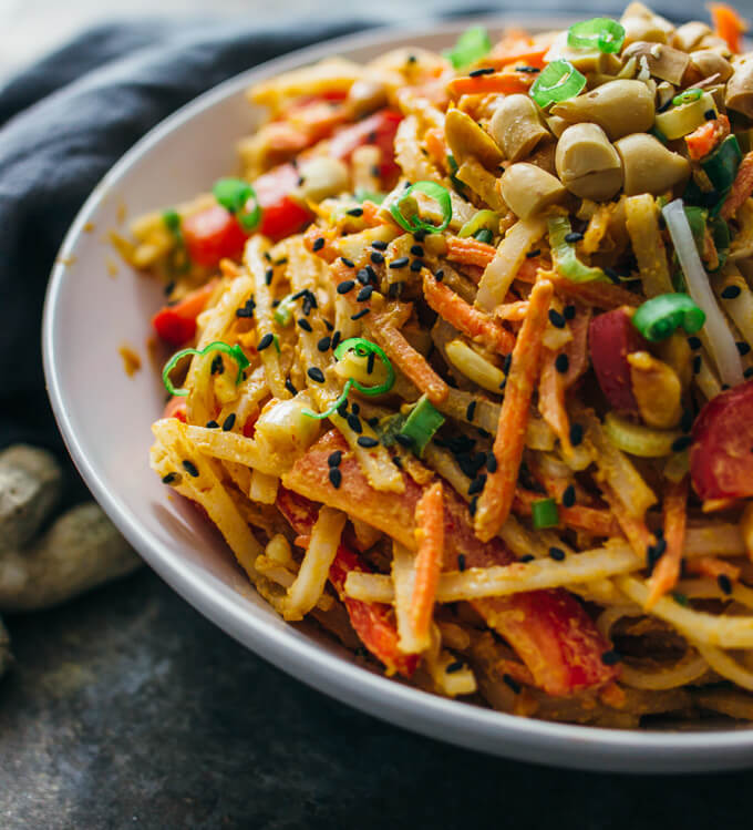 ... dressing. Let's make this nice cold peanut noodle salad for dinner