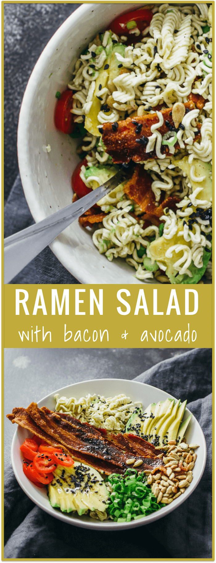 Ramen Salad With Bacon And Avocado Savory Tooth