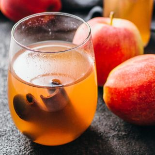 Slow cooker cranberry apple cider with cinnamon