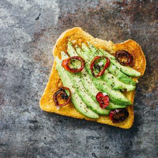 Avocado toast with jalapeño