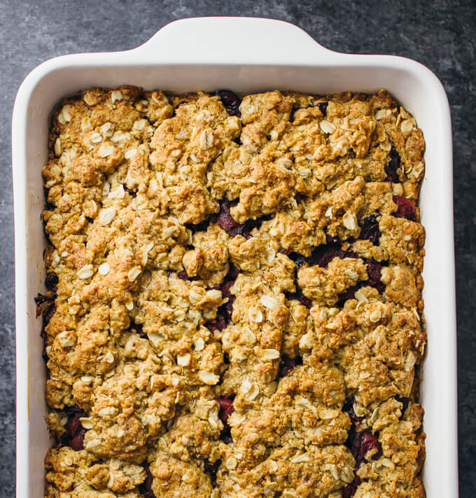 Cranberry sauce oatmeal bars