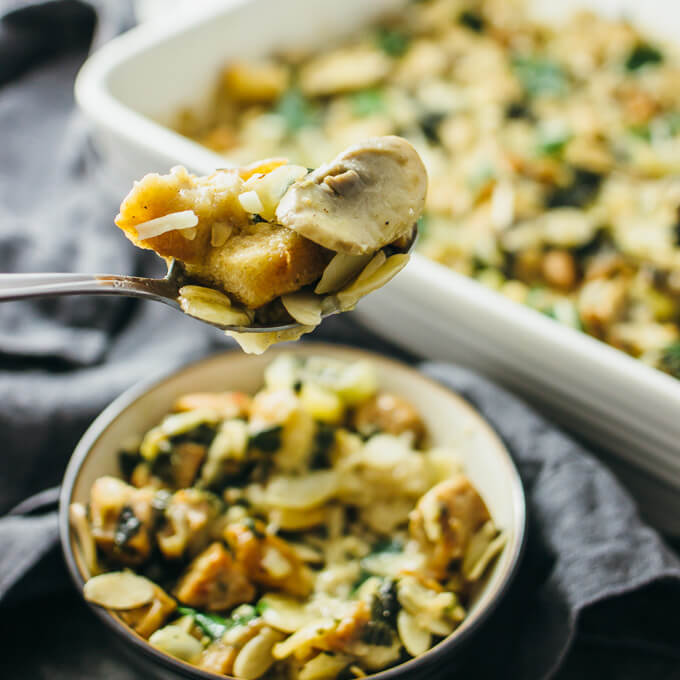 Italian sausage stuffing with mushrooms - savory tooth