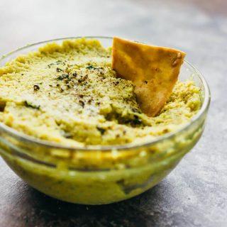 Roasted curry cauliflower dip