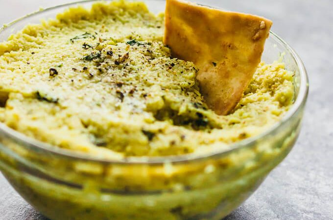 Roasted curry cauliflower dip