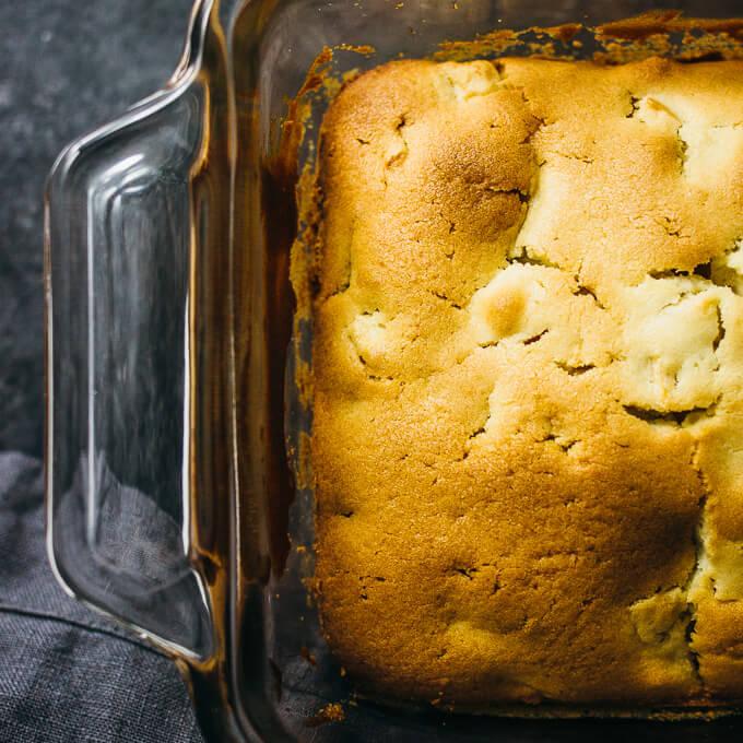 Apple loaf with caramel glaze