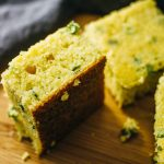 Easy cornbread skillet with scallions
