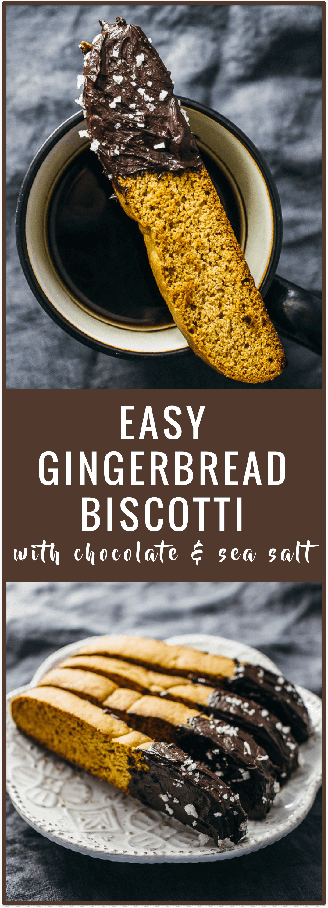 Gingerbread biscotti with chocolate and sea salt - This is an easy ...