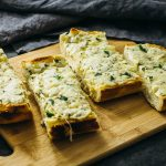 Cheesy oven-baked garlic bread