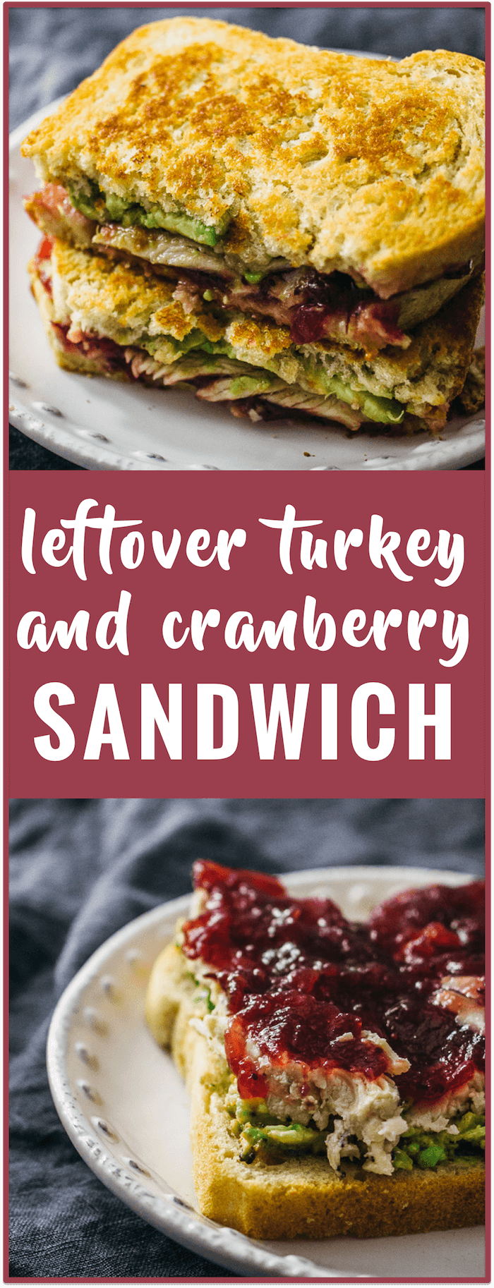 Leftover turkey and cranberry sandwich recipe - Use up your Thanksgiving leftovers with this crispy skillet sandwich loaded with sliced turkey, cranberry sauce, and mashed avocado.