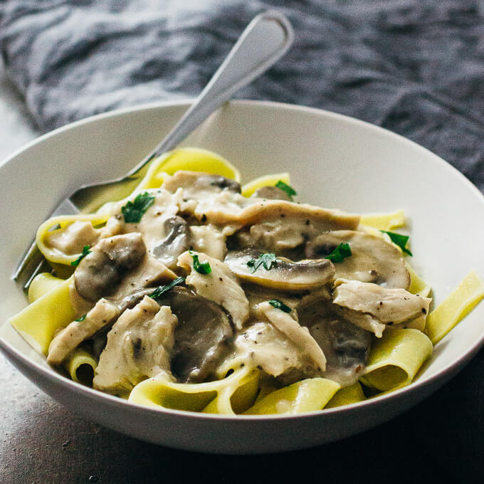 Try this simple recipe for turkey stroganoff — shredded turkey meat ...