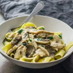 Turkey stroganoff with mushroom