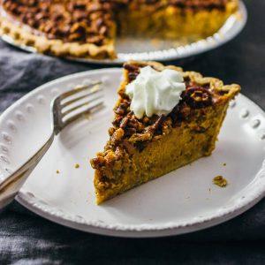 Perfect pecan pumpkin pie