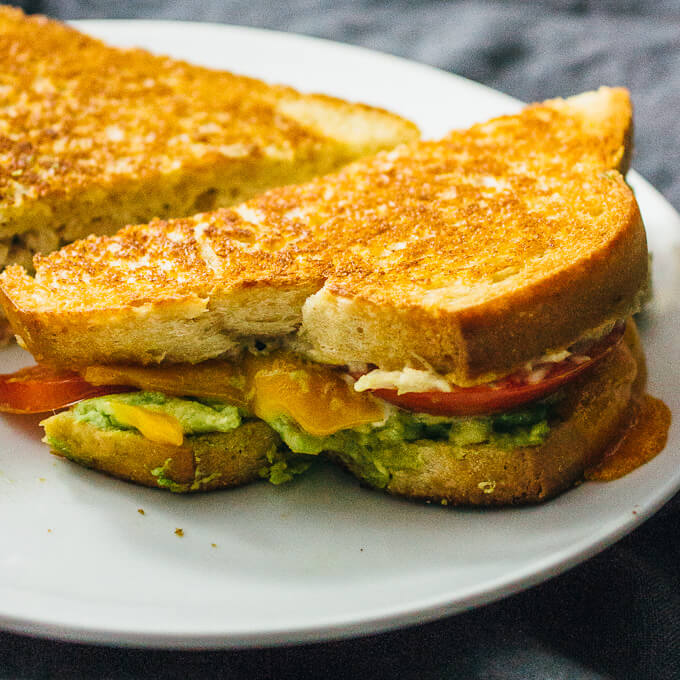 Skillet tuna melts with avocado