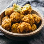Crispy arancini with corn and thyme