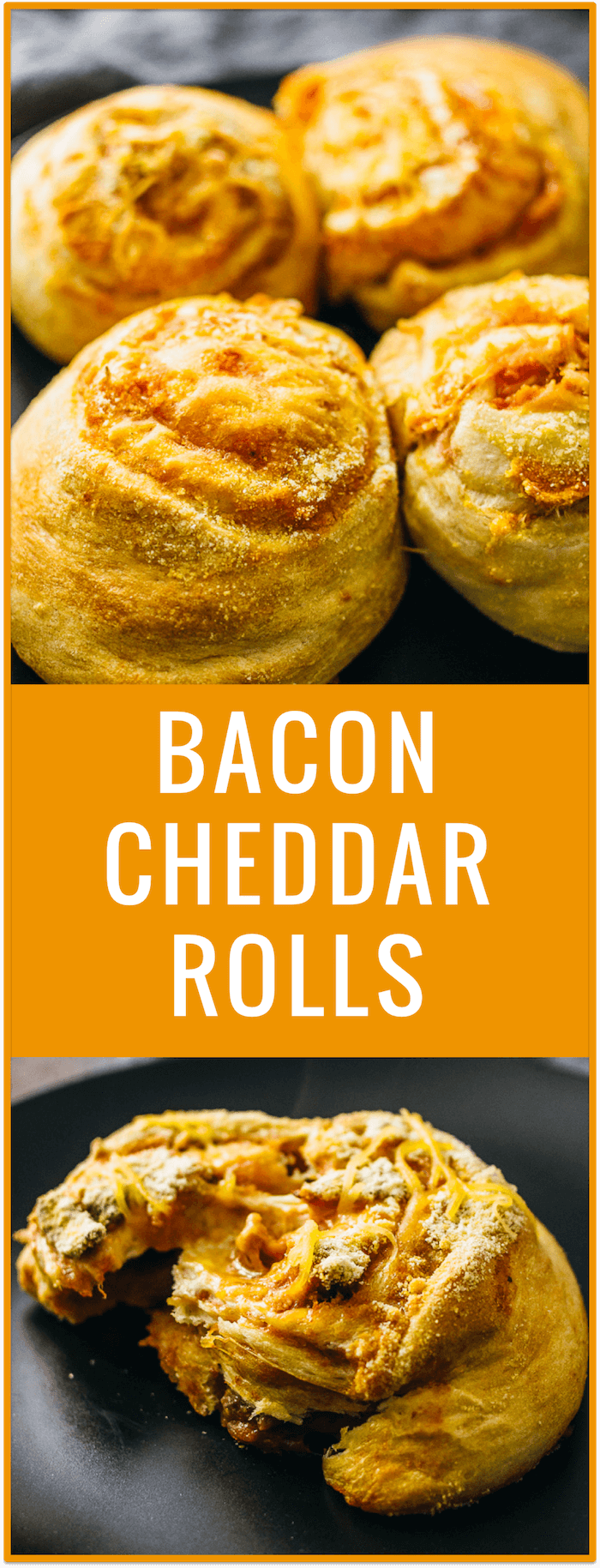 Here's a delicious and easy recipe for breakfast rolls that are generously stuffed with extra crispy bacon crumbles, lots of cheddar cheese, and tomato sauce.