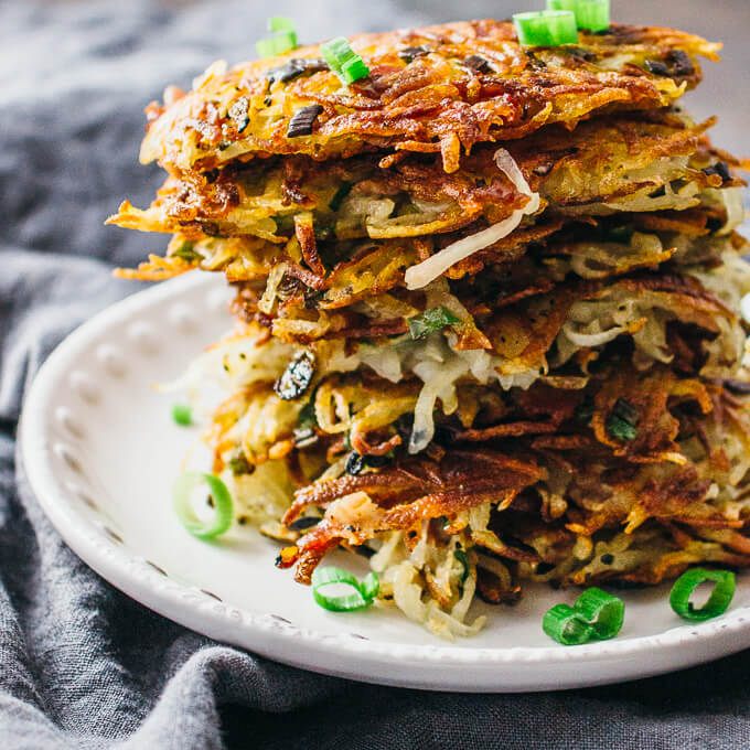 Bacon hash brown stacks