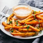 Garlic and basil sweet potato fries