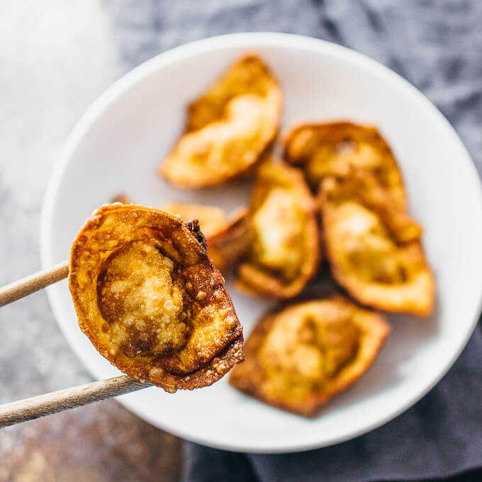 Super easy fried wontons