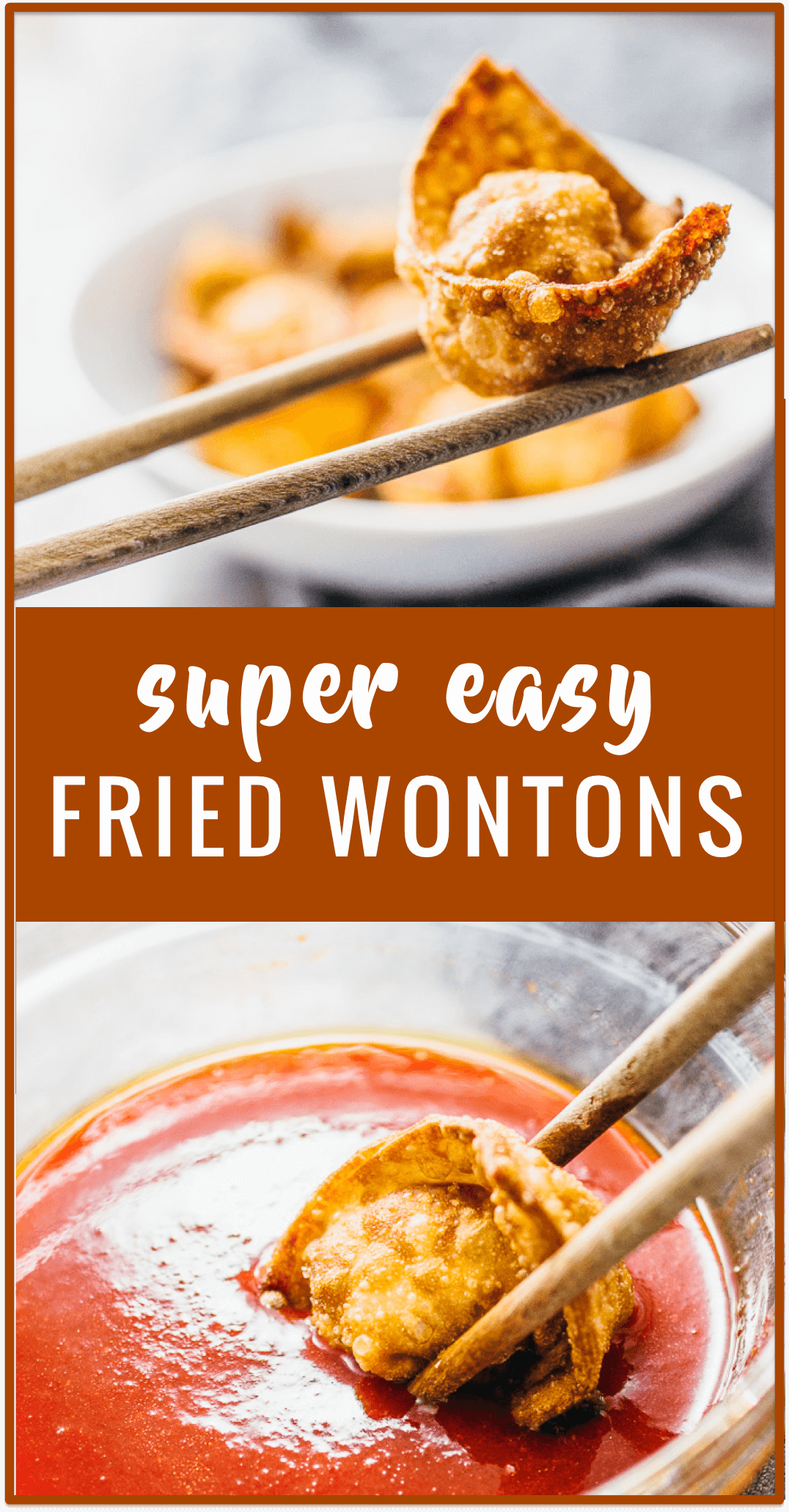 Super easy fried wontons recipe: These extra crispy fried wontons are a fun and delicious way to use up your leftovers by stuffing them into wonton wrappers and frying until crispy.