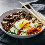 Bibimbap (Korean beef bowl)