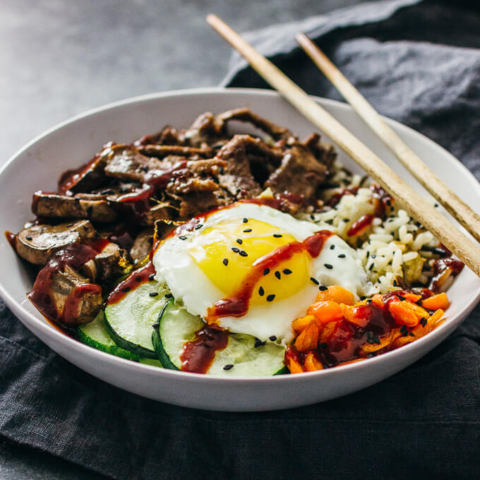 Bibimbap Korean Beef Bowl Savory Tooth