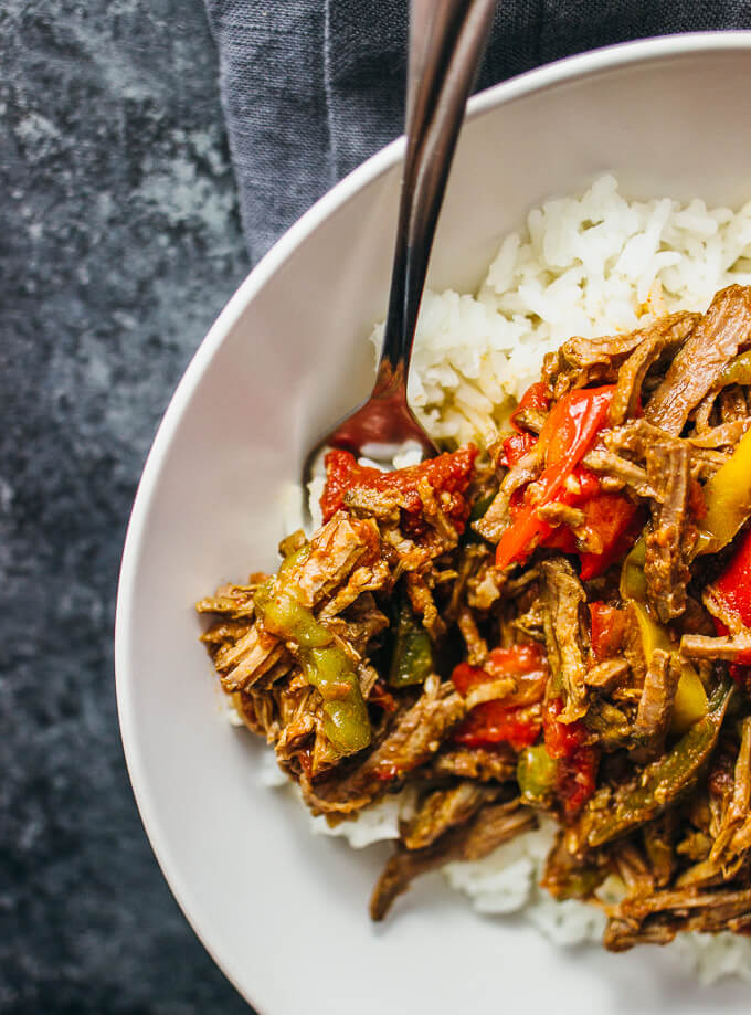 Cuban beef stew ropa vieja (slow cooker)