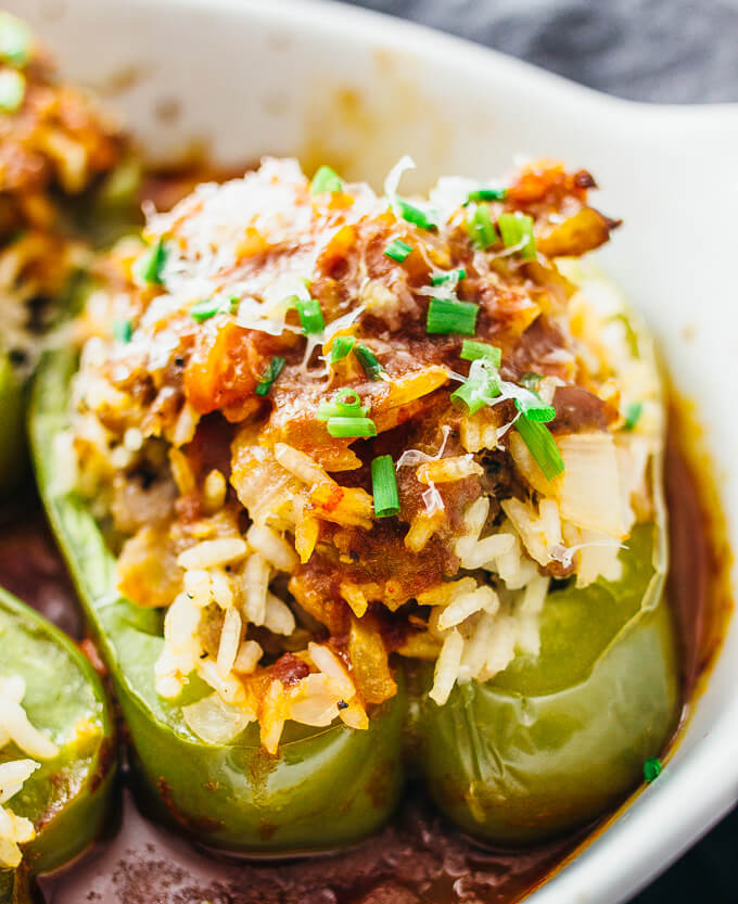 easy stuffed peppers easy italian stuffed peppers savory tooth 30605