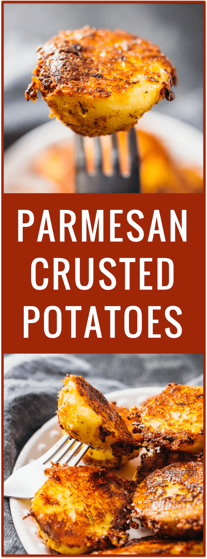 crispy parmesan crusted potatoes | crispy parmesan potatoes | parmesan upside down baked potatoes | parmesan roasted baby potatoes | easy simple appetizer recipe | side dish | party food
