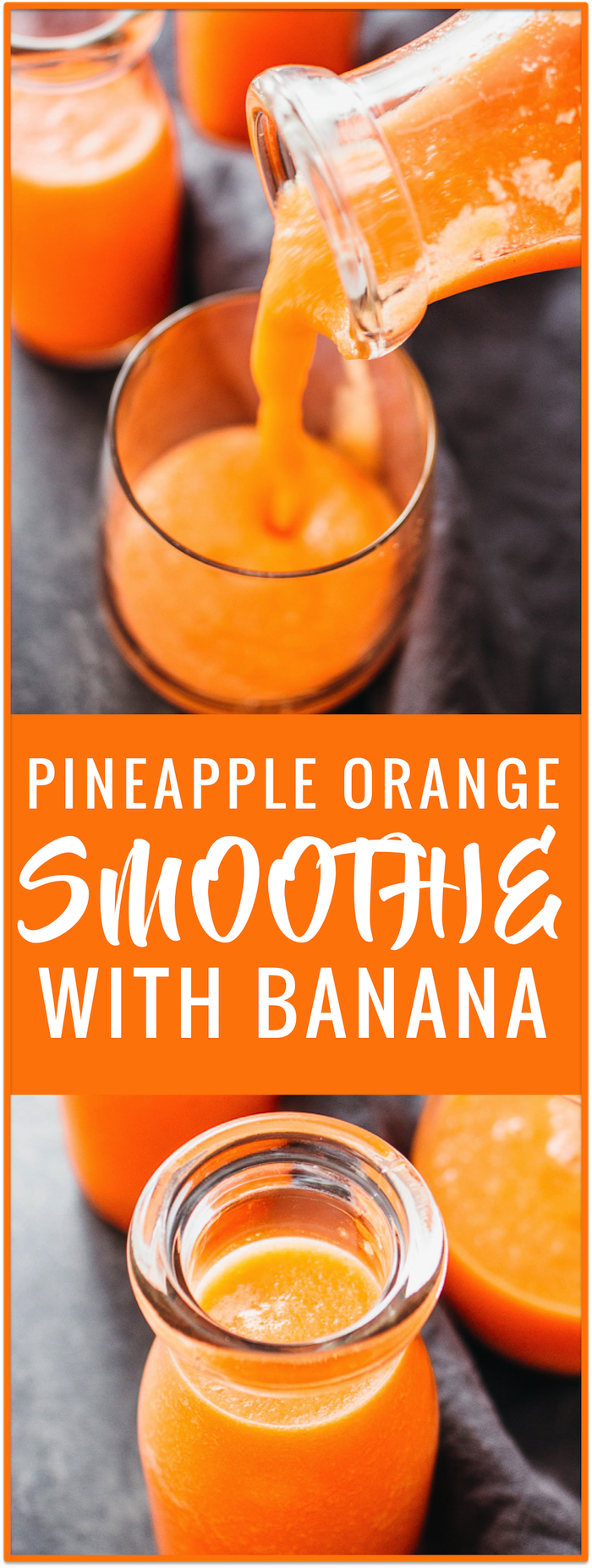 Healthy pineapple smoothie with banana recipe, carrots, fresh fruit, chopped pineapples, ideal breakfast drink , healthy and vegan smoothie recipe, whole 30, strawberry, for weight loss, easy, blueberry, mango, orange, green, frozen