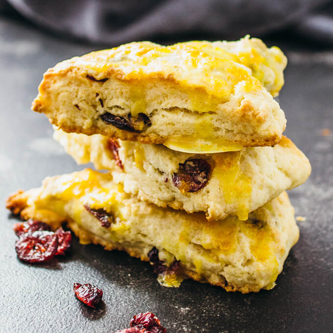 Cranberry orange scones