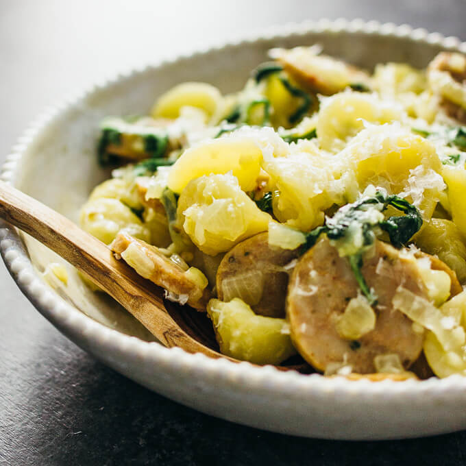 Orecchiette pasta with sausage