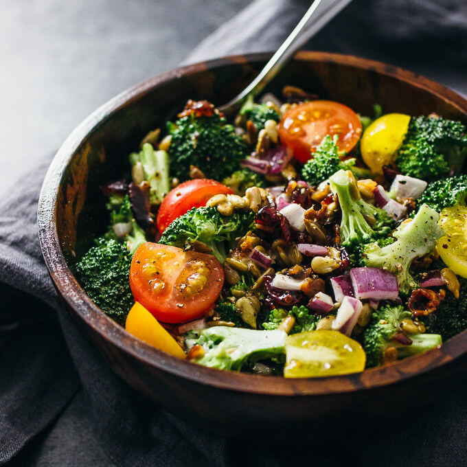 Cold Broccoli Salad With Bacon And Cranberries